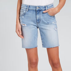 Bermuda Denim Short  LIGHT WASH DENIM  hi-res