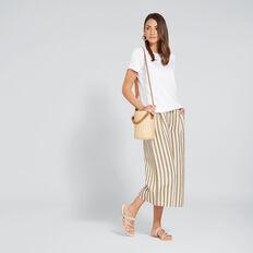 Wide Leg Stripe Pant  BRONZE MIST STRIPE  hi-res