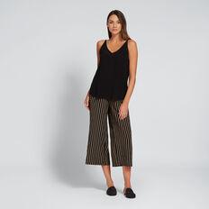 Contrast Stripe Pant  BLACK/TUSCAN  hi-res