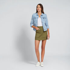 Distressed Denim Jacket  LIGHT WASH DENIM  hi-res