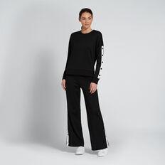 Snap Track Pant  BLACK  hi-res