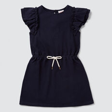 Jersey Frill Dress  NAVY  hi-res