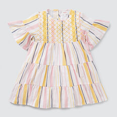 Stripe Tiered Dress  MULTI  hi-res
