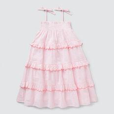 Seersucker Midi Dress  MUSK PINK  hi-res
