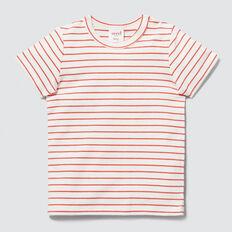Stripe Tee  TANGO RED  hi-res