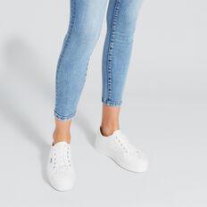 Billie Flatform Sneaker  WHITE QUILT  hi-res
