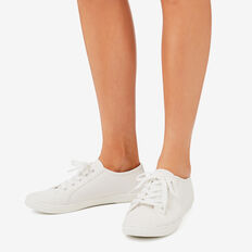 Taylor Lace Up Sneaker  WHITE  hi-res