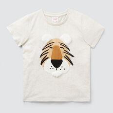 Texture Tiger Tee  OAT MARLE  hi-res