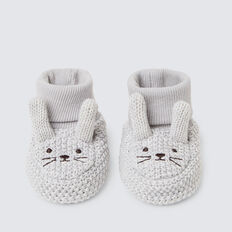 Grey Bunny Booties  GREY  hi-res