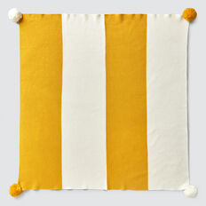 Stripe Knit Blanket  SAFFRON  hi-res