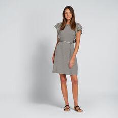 Tie-Up Jersey Dress  BISQUE/BLACK  hi-res