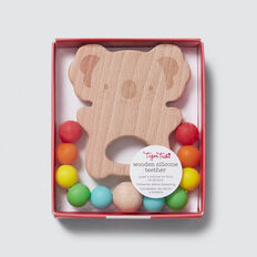 Wood & Silicone Koala Teether  MULTI  hi-res