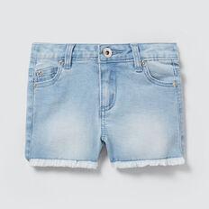 Frayed Denim Shorts  SUMMER BLUE  hi-res