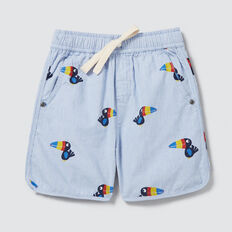 Puffin Stripe Short  CORNFLOWER BLUE  hi-res