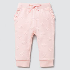 Quilted Daisy Track Pant  ICE PINK  hi-res