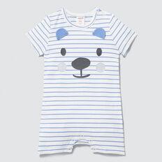 Stripe Bear Yardage Jumpsuit  BRIGHT BLUEBELL  hi-res