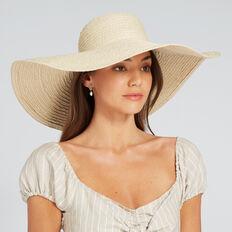 Wide Brimmed Sun Hat  NATURAL  hi-res
