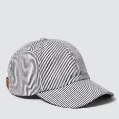 Striped Cap  CREAM/BLACK STRIPE  hi-res