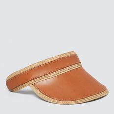 Leather Look Visor  NATURAL/ TAN  hi-res