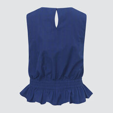 Gingham Top  ROYAL BLUE  hi-res