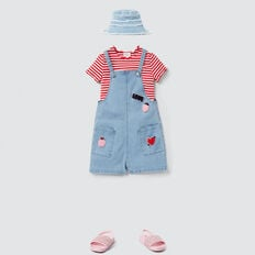 Rib Tee  APPLE RED/PINK FIZZ  hi-res