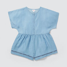 Trim Playsuit  SUMMER BLUE  hi-res