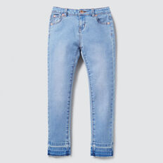 Exposed Hem Jean  BRIGHT WASH  hi-res