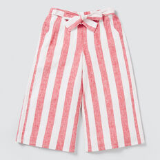 Stripe Culottes  APPLE RED/WHITE  hi-res