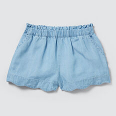 Scalloped Shorts  SUMMER BLUE  hi-res