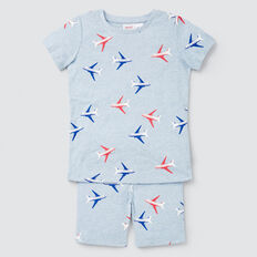Planes Yardage Pyjama  SLEEPY BLUE MARLE  hi-res