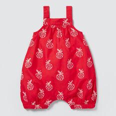 Apple Embroidered Romper  APPLE RED  hi-res