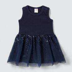 Rib Tutu Dress  NAVY  hi-res