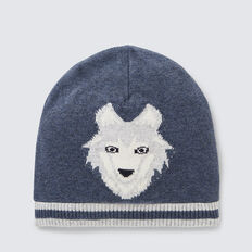 Wolf Beanie  MIDNIGHT BLUE  hi-res