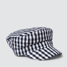 Gingham Cap  NAVY  hi-res