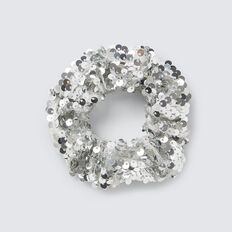 Silver Sequin Scrunchie  SILVER  hi-res