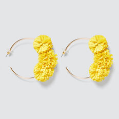Ruffle Hoops  AMBER YELLOW  hi-res