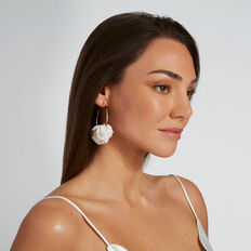 Ruffle Hoops  WHITE  hi-res