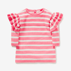 Stripe Knit Dress  FAIRY FLOSS PINK  hi-res