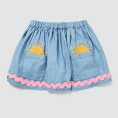 Sunny Pocket Skirt  SOFT BLUE WASH  hi-res
