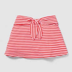 Stripe Jersey Skirt  APPLE RED/PINK FIZZ  hi-res