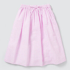 Gingham Midi Skirt  BRIGHT LILAC  hi-res