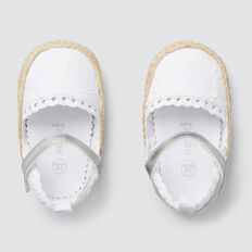Broderie Mary Jane  WHITE/SILVER  hi-res