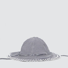 Seersucker Swim Hat  NAVY  hi-res