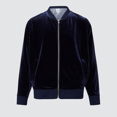 Velour Bomber  MIDNIGHT  hi-res
