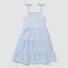 Stripe Tiered Dress  POWDER BLUE  hi-res