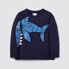 Novelty Shark Sweater  MIDNIGHT BLUE  hi-res