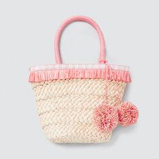 Pom Pom Basket  NATURAL  hi-res