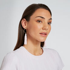 Circle Tassle Earrings  JASMINE  hi-res