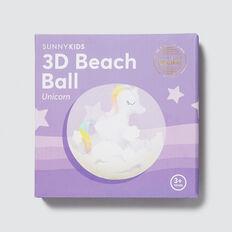 3D Inflatable Unicorn Beach Ball  UNICORN  hi-res