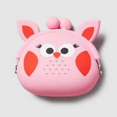 Owl Squishy Purse  PINK FIZZ  hi-res